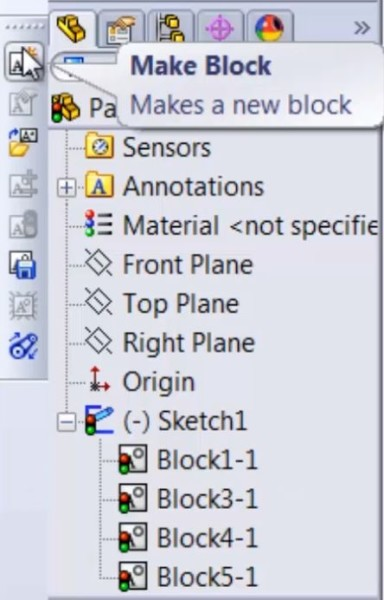 Blocks in SolidWorks 2013
