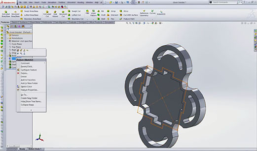 Shelling in SolidWorks 2013 Local Operations Screenshot