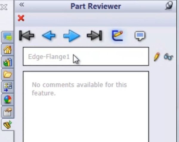 Parts Reviewer in SolidWorks