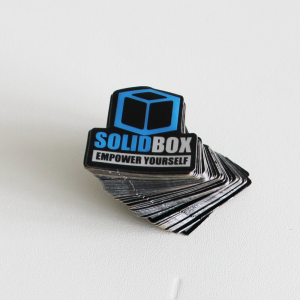 Stack of SolidBox Stickers - CAD workstations